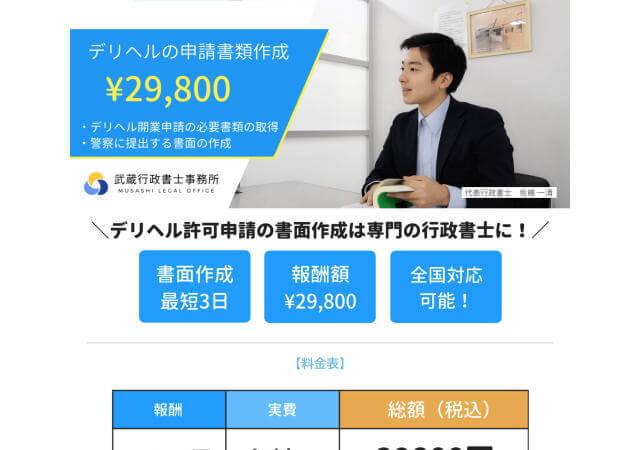 武蔵行政書士事務所のホームページ